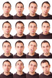 Espressioni Fotografia Stock Libera da Diritti