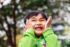 Espressioni dei bambini Fotografia Stock