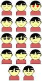 Espressioni del fronte Fotografia Stock