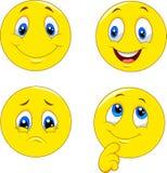 Espressioni del fronte dell'emoticon royalty illustrazione gratis