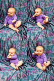 Espressioni dell'infante Immagini Stock Libere da Diritti