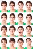 Espressioni della donna Fotografie Stock Libere da Diritti