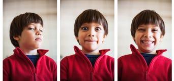 Espressioni differenti fotografie stock libere da diritti