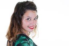 Espressioni ed emozioni del fronte della donna in giovane bella femmina allegra positiva fotografia stock