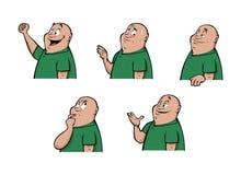 Espressioni maschii illustrazione di stock
