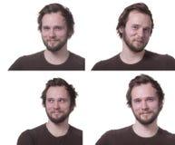 Espressioni maschii positive. Immagini Stock Libere da Diritti