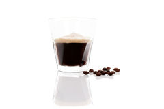 Espresso över vit Arkivbild