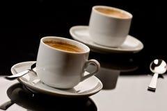 espresso δύο Στοκ Εικόνες