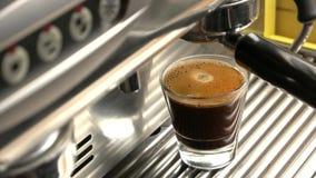 Espresso με στενό επάνω αφρού φιλμ μικρού μήκους