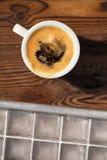 Espresso με τον καφέ κύβων πάγου Στοκ Εικόνες