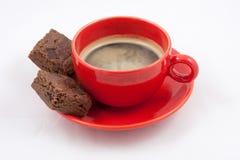 espresso кофе пирожнй Стоковое Фото