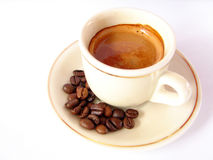 Espresso. Cup of espresso coffee on white background Stock Photography