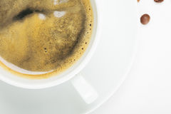 Espresso above view Royalty Free Stock Photography