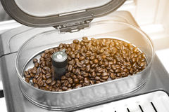 Espresso and americano coffee machine maker with coffee grinder Royalty Free Stock Photo