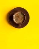 Espresso americano Schale Kopieren Sie Platz lizenzfreies stockbild