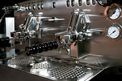 Espresso angle. Powerful automatic espresso and cappuccino machine angle Royalty Free Stock Photos