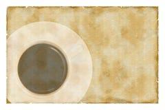 Espresso auf Weinlesepapier stockbild