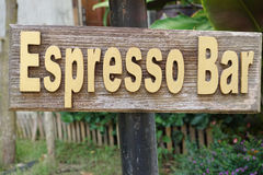 Espresso bar sign Stock Photography
