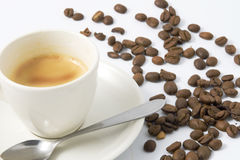 Espresso with beans Stock Photography