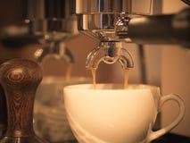 Espresso brewing Royalty Free Stock Photos