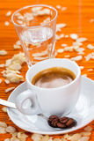 Espresso caffee, almond flavor Royalty Free Stock Image