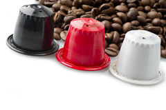 Espresso capsules Royalty Free Stock Photos