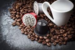Espresso capsules Stock Photo