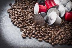 Espresso capsules Stock Images