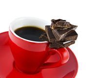 Espresso and Chocolate Royalty Free Stock Photography