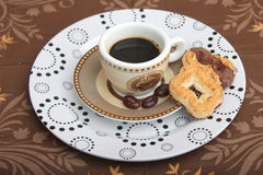 Espresso. An espresso with chocolate cookies royalty free stock images