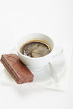 Espresso and chocolate pie Stock Photography
