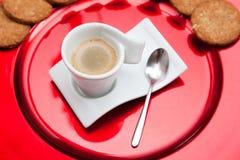 Espresso coffe Schale Stockfotografie