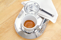 Espresso coffee. Royalty Free Stock Images