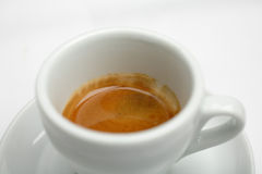 Espresso coffee. Italian coffee with crema, espresso Royalty Free Stock Photo