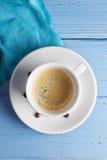 Espresso coffee above view Stock Image