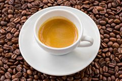 Espresso and coffee bean Stock Photography