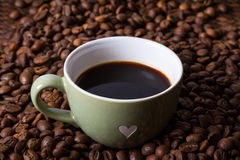 Espresso and Coffee bean. Royalty Free Stock Image
