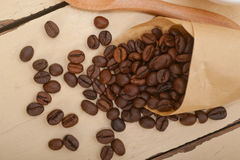 Espresso coffee and beans Stock Image
