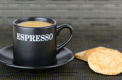 An espresso coffee Stock Image