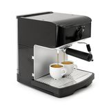 Espresso coffee brewing Stock Photo