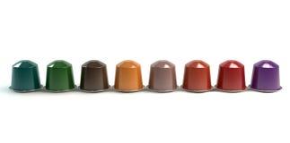 Espresso Coffee Capsules Stock Photo