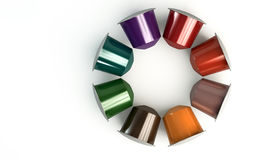 Espresso Coffee Capsules Royalty Free Stock Images