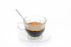 Espresso coffee in classic cup isolate on white background Royalty Free Stock Photo