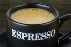 An espresso coffee Stock Images