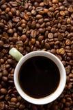 Espresso. Coffee and coffee bean Stock Image