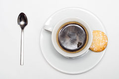 Espresso coffee with cookies Stock Images