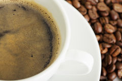 Espresso and coffee crop Stock Photos