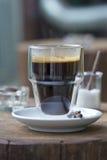 Espresso coffee cup. Close up of espresso coffee cup Royalty Free Stock Image