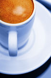 Espresso coffee cup close up macro cool colour concept Royalty Free Stock Photos