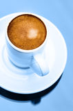 Espresso coffee cup close up macro cool colour concept Stock Image